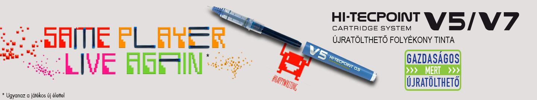Pilot - Folyékony tintás tollak - V5/V7 cserélhető betétes