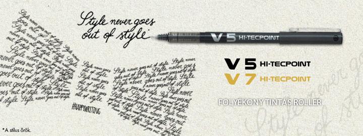 Pilot - Folyékony tintás tollak - V5/V7 Hi-Tecpoint