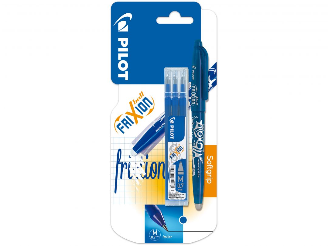 Blis FriXion Ball 0.7 Blue - 3 Refills Set