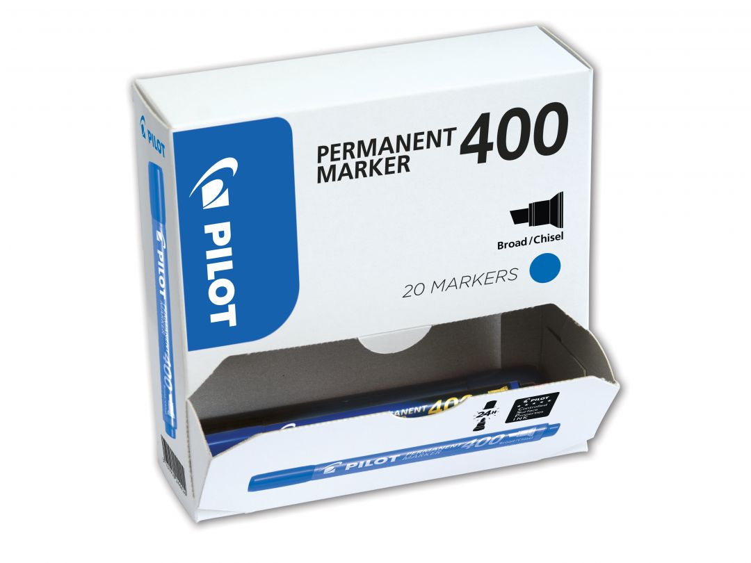 Permanent Marker 400 - Marker - XXL csomag - Kék - Vastag vágott hegy