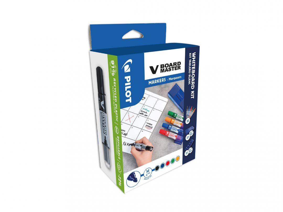 V-Board Master - Marker - Whiteboard szett - Vegyes színek - Közepes hegy