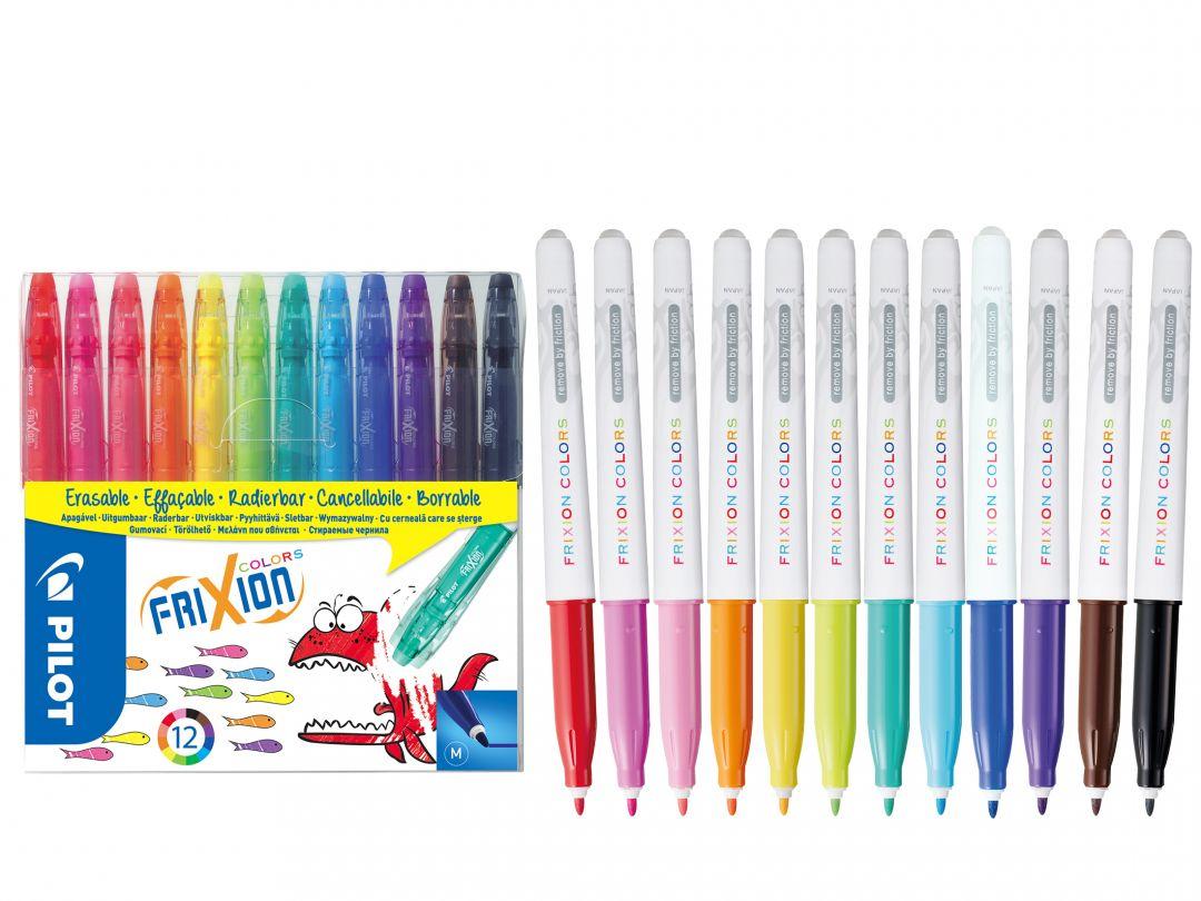 FriXion Colors - 12 db-os csomag - Vegyes színek - Közepes hegy