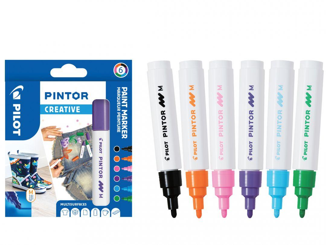 Pilot Pintor - 6 db-os tárca - Kreatív színek - Közepes hegy