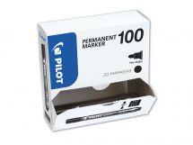 Permanent Marker 100 - Marker - XXL csomag - Fekete - Vékony kerek hegy