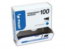 Permanent Marker 100 - Marker - XXL csomag - Kék - Vékony kerek hegy
